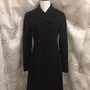 Kenneth Cole Long Black Pea Coat